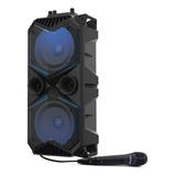 Parlante Bluetooth Portatil Karaoke Bafle Microfono Bowmann
