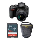 Cámara Nikon D5600 Kit 18-55mm + 32gb + Estuche.