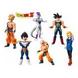Figuras De Dragon Ball Set X 6 Goku Vegeta + Obsequio