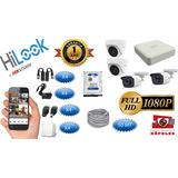 Kit Hikvision Hilook Dvr 1080 4ch + 4 Cámaras 1080p +accesor