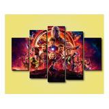 Cuadros Marvel Avengers 100 X 70 5 Piezas