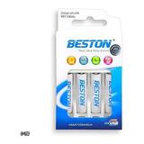 Pila Bateria Beston Aaa Recargables 1100mahx4+ Cargador