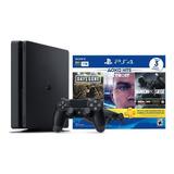 Consola Playstation Ps4 Hits Bundle 1tb 3 Juegos Nueva
