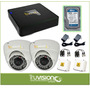Cctv Kit Dvr De 4 Ch + Camaras De Seguridad Hd