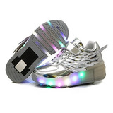 Cps Niños Niñas Niños Light Up Ruedas Roller Zapatos Patines