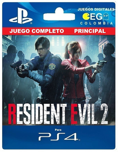 Juego Digital Resident Evil 2 Remake Ps4 Principal