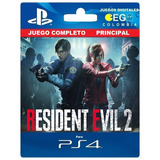 Juego Digital Resident Evil 2 Remake Ps4 Principal