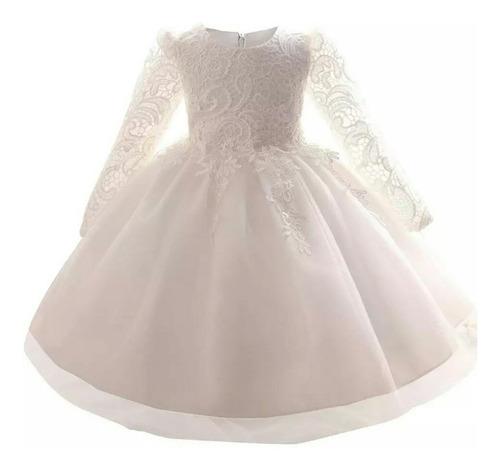 bc56a7779 Vestido De Niña Bebe Fiesta Elegante Bautizo Pagecita
