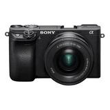 Cámara Sony Alpha A6400 Mirrorless 4k + Lente 16-50mm