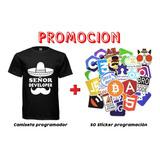 Calcomanias Programador + Camiseta Programador