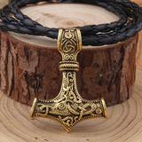 Collar Vegvisir Vikingo Thor Martillo Mjolnir Nórdico Hombre
