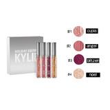 Set X4 Labiales Kylie Mate Edición Holiday Plateados