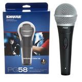 Microfono Shure Pg58 Cable Xlr Promoción 2 Microfonos X 1