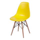 Silla Charles Eames Madera - Diseño Amarilla + Garantía -dsw