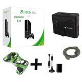 Xbox 360 Super Slim E 4gb Version 5.0 Super Combo* Stargus*