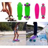 Patineta Tabla Skate Mini Long Board Llantas Goma Original