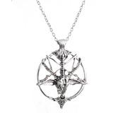 Collar Pentagrama Pan Cabra Calavera Cabeza Dos Opciones