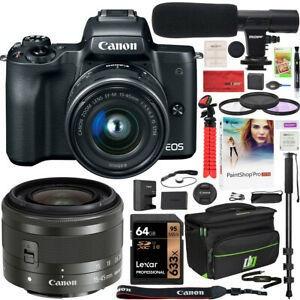 Camara Digital Canon Eos M5 Sin Espejo Negro Con Lente De 15