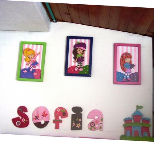 Cuadros arte country decoracion cuarto infantil hogar for Cuadros decoracion hogar