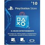 Tarjeta Psn 10 Usd Playstation Gift Card Ps4 Ps3 Disponible