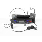 Uhf-32mhl Pro Dj Micrófono Inalámbrico Mano+diadema+solapa