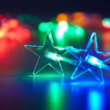 20 Luces Led Figuras Estrella Multicolor