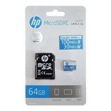 Memoria Micro Sd 64 Gb  Hp Clase 10 Uhs-i  100 Mb/s Genuina