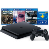 Consola Playstation 4 Slim 1tb Hits Bundle 5 3 Juegos Plus 3