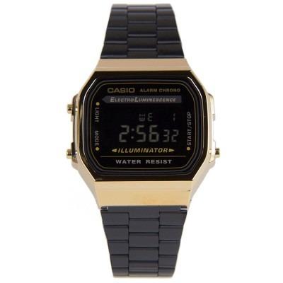 7e543b630128 Casio Retro A168wegb 1b Negro Unisex Acero 100% Original
