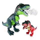 Dinosaurio Juguete Sonido Luces Y Movimiento Vapor
