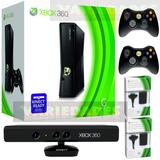 Xbox 360 Slim 5.0  Disco 500 Gb 90j. Kinect 2 Controles +