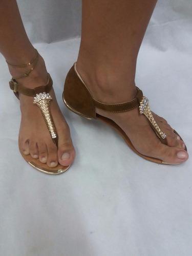 3793a24c62d Sandalia Para Dama Miel Marrón Raja Dedo Zapatos De Moda