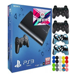Play Station3 Ps3  Super Slim 500gb+ 44 Juegos + 2 Controles