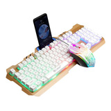Combo Teclado Y Mouse Gamer Alambrico Gaming Led