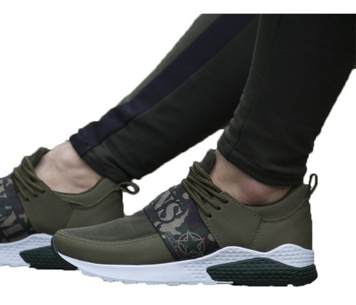 f2d3c3fa Tenis Zapatos De Hombre Army Verde Original Maxi