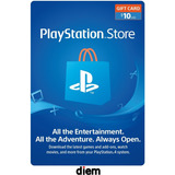 Tarjeta Psn  10 Usd  -  Playstation Gift Card