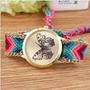 Reloj Pulsera Geneva Tejido A Mano Calidad El Mejor Mariposa