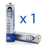 Pila Bateria Recargable Aaa 1000mah Ni Mh 1.2v Marca Bty
