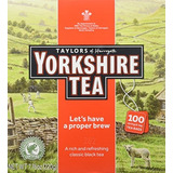 Taylors Of Harrogate Yorkshire Red 100 Teabags Paquete De 4