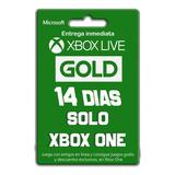 Xbox Live Gold 14 Dias Codigo Entrega Inmediata Xbox One/360