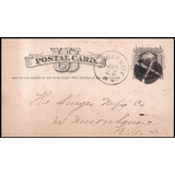 1878 Usa Singer Coser  Tarjeta Postal Estampillas  Antigua