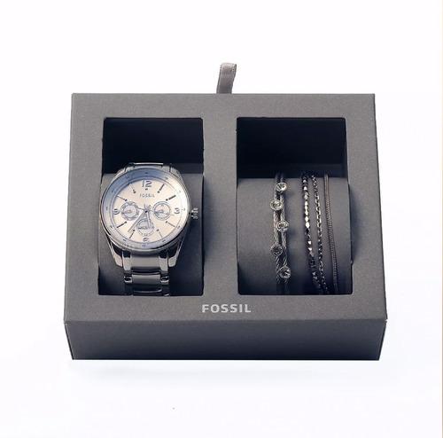 8a683c6b1187 Reloj Fossil Mujer + 2 Pulseras Set Original Envío Gratis