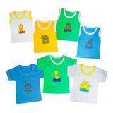 d02699b53 Set Semanario Camisas Para Bebe Niño Glotoncitos-multicolor