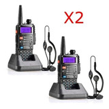 Combo 2x Baofeng Uv5r Plus V2 Vhf/uhf 50km Paquete 2 Unds