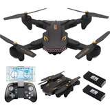 Drones Tianqu Visuo Xs809s Camara Wifi Hd 2mp 2 Baterias