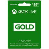 Xbox Live Gold 12 Meses 1 Año Envio Inmediato Multi Region