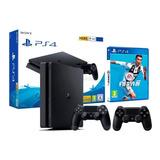 Consola Playstation 4 1 Tb + Fifa 19 Fisico 2 Controles