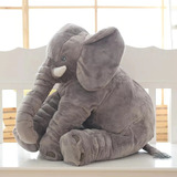 Almohada De Peluche Para Bebé  Elefante  60 Cm Grande