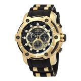 Reloj Hombre Invicta Bolt Gold Black Enchape Dorado  26751