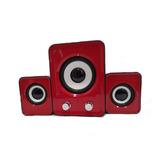Sistema De Parlantes Bafles Para Pc Jeway 12 Watts Rojo